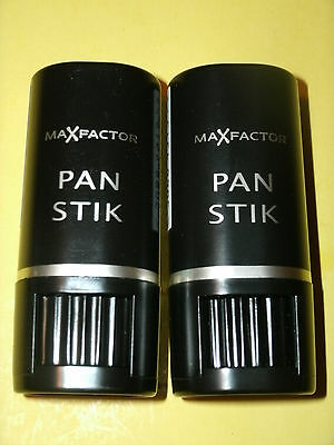 Two Max Factor Pan Stik Foundation / New Version Sticks + Free Bonus Samples