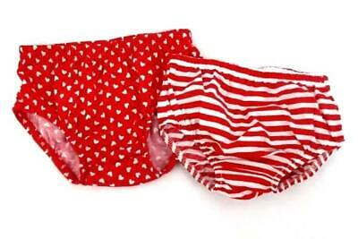 Lot Of Two Toddler 12M Red And White Diaper Covers