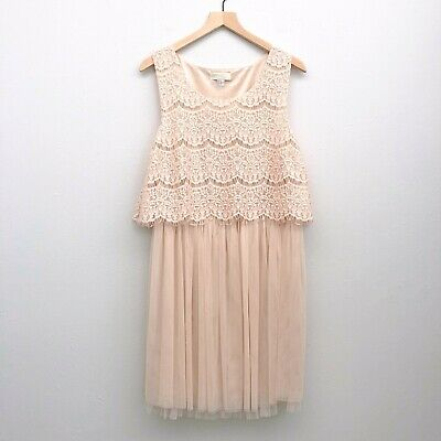 FOREVER 21+ PLUS Size Cream Lace Dress - Size 2X