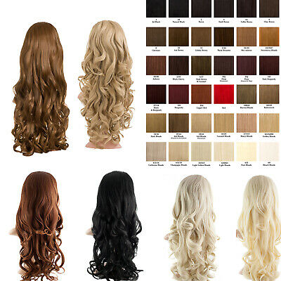 High Quality Long 24'' Curly Half Head Wig Loose Curls 3/4 Weave Hair Piece