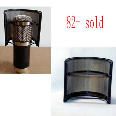 Double Layer Recording Microphone Windscreen Filter Mask Shield Black JF#E
