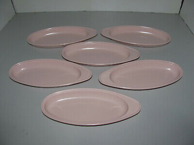 Malbren Melamine Ware Pink Plates x6 Made in Australia As New In Great Condition