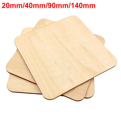 Kids Practical Wood Chips Pyrography Blank Plaque Square Multifunction DIY Craft