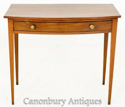 Regency Side Table - Antique Bow Fronted