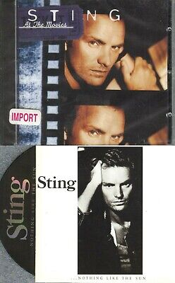 Sting / Police At The Movies - Korean Import New + Nothing Like The Sun 2 Cd Lot