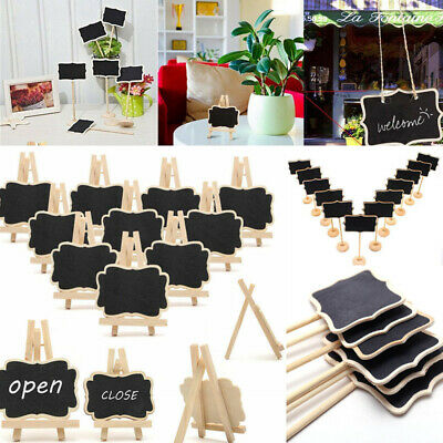 6/12/20X Mini Message Wooden Blackboard Note Sign Message Chalk Board Table Top