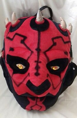 "STAR WARS - Darth Maul Sith 15"" Character Backpack Official Lucasfilm Vintage"