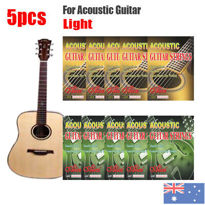 5pcs Alice Steel Light Coated Copper Alloy Winding Acoustic Guitar Strings 12-53