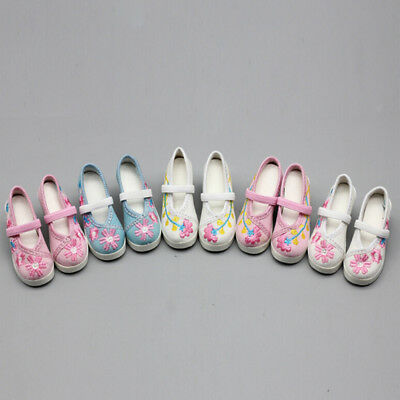 1 Pair doll flower high heel shoes for  1/3 doll 60cm doll accessories new.