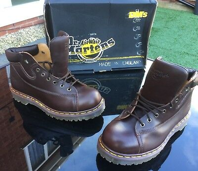 Dr Martens 9145 brown Harvey leather boots UK 7 EU 41 Made in England