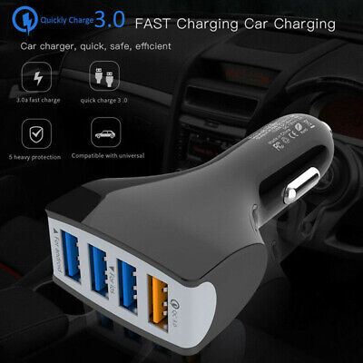 4Multi USB Charger Car Cigarette Lighter Socket Power Adapter Splitter Converter
