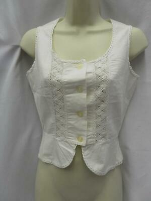"Vintage 1970s white camisole under garment 34"" bust cotton and lace"