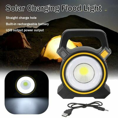 Pathway 30W LED USB Charging Solar Rechargeable Flood Light Portable Spot Lamp