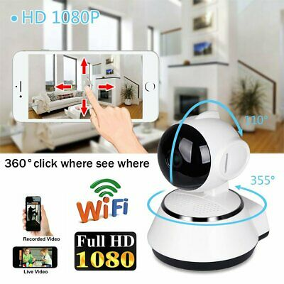 1080P IP Camera Wireless CCTV Security Wifi Webcam Home Baby Pet Monitor Cam