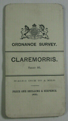 1905 Old OS Ordnance Survey Ireland One-Inch Second Edition Map 86 Claremorris