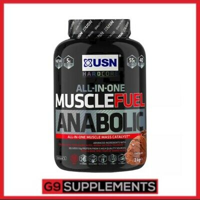 USN Muscle Fuel Anabolic All in One Lean Muscle Gainer Protein Shake Powder 2kg