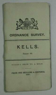 1905 Old Antique OS Ordnance Survey Ireland One-Inch Second Edition Map 90 Kells