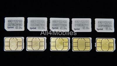 1 SPRINT - Nano SIM Card - Used - Activation Bypass - $3 87 | PicClick