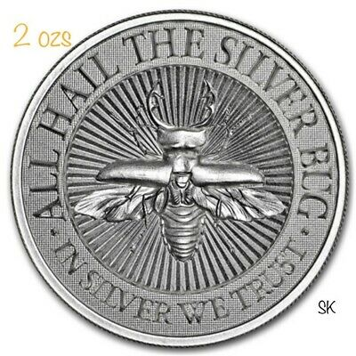 The Silver Bug: Stag Beetle 2 oz Silver Round