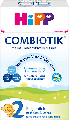 HiPP Combiotic Bio Formula Best Organic Baby Food Follow on 2 From 6 Months 600g