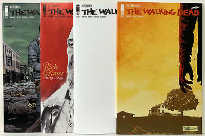 Walking Dead #192 & 193 4 Comics Death Of Rick Grimes Bagged & Boarded In Mylite