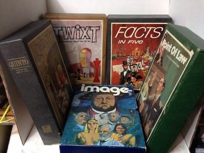 5x Lot Vintage 3M Bkshlf Board Games Twixt Quinto Point Of Law Image Facts In 5