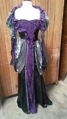 Victorian Trading Wicked Queen Black & Purple Halloween Costume SM A 26B