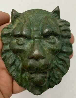 Ancient Roman Bronze Lion Face