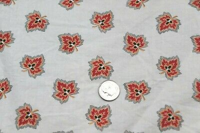 """Antique c1860 French Provencal Cotton Calico Fabric~Leaf~23""""X 31""""~Dolls,Quilters"""