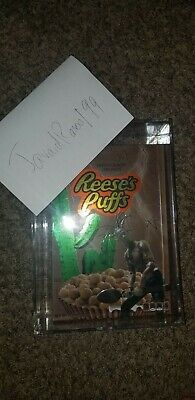Travis Scott x Reese's Puffs Cereal + Acrylic Box SEALED BRAND NEW *IN HAND*