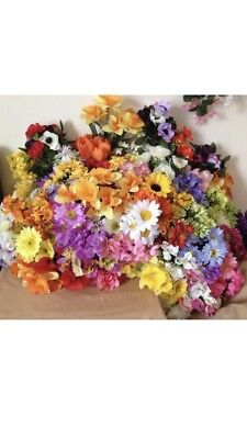 100x Artificial Flower Bunches Joblot Wholesale Bush Spray Posy Clearance Spring