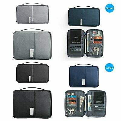 New Travel Wallet Passport Document Holder RFID Family Case Waterproof Organizer