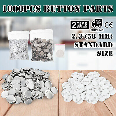 1000Pcs 58mm Button for Badge Maker Machine easy operate garments Top/Bottom