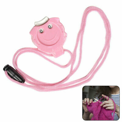 Needle Crafts Mini Cartoon Smile Crochet Knitting Row Counter Cute With Lanyard