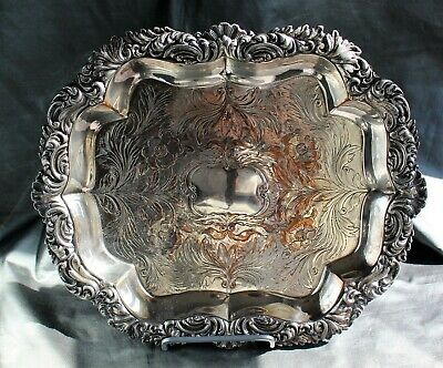 George IV Old Sheffield Fusion Plate Footed Salver c. 1810