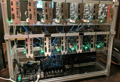 13 GPU AMD Crypto Currency Mining Rig 210-220 Mh/s Ethereum ETH, XMR and more
