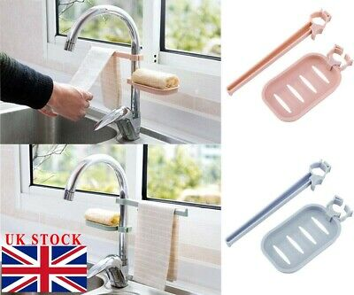 Sponge Holder Sink Around Faucet Kitchen Shelf Adjustable Pool Storage Rack
