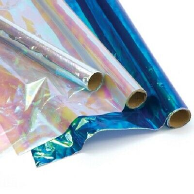 6 Pack  Iridescent Cellophane Roll's 2 meters -Gift Wrap, hamper wrap cellophane