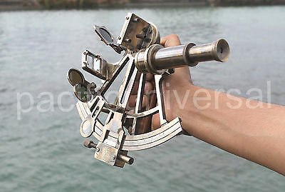 Marine Navy Ship Astrolabe Working Instrument Antique Brass Sextant Nautical.