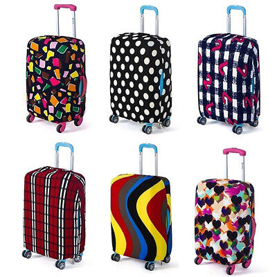 BG_ Elastic Dustproof Travel Luggage Cover Protective Case for 18-28inch Suitcas