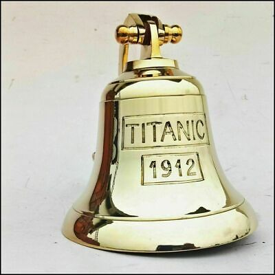 Solid Brass Anchor Ship Titanic Bell1912 London Hanging Bell Nautical Wall Decor