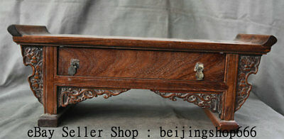 "18.6"" Old Chinese Huanghuali Wood Dynasty Drawer Table Desk Classical Furniture"