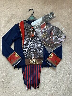 Halloween Boys Ghostly Pirate Skeleton Fancy Dress NEW H17