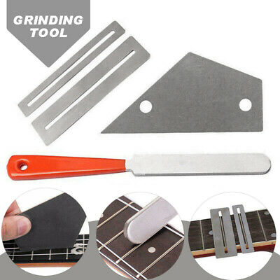 Guitar Instrument Fret Crowning Luthier File Leveling Grinding Repair Tool Set