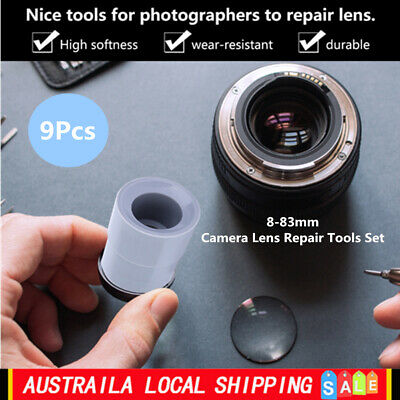 New 9pcs Camera Lens Repair Tool Set Ring 8-83mm Lenses Removal Rubber Accessory