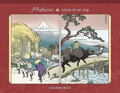 Hokusai 100 Views of Mt Fuji Adult Colouring Book