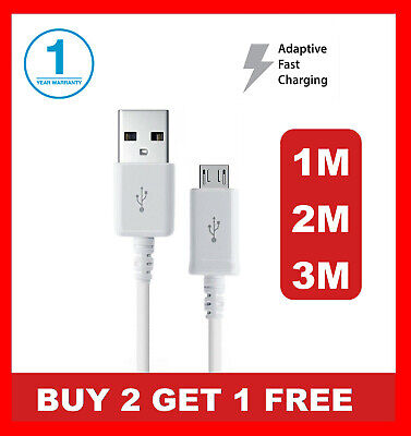 1M 2M 3M Fast Charger Micro USB Data Cable Lead For Samsung Galaxy S3 S5 S6 S7