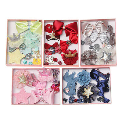 Cute Girls Headdress Headwear Flower Barrette Pins Bow Hair Clips Hairpins
