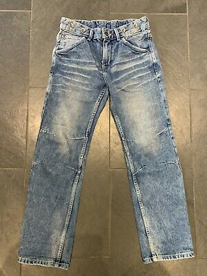 H&M Boys Denim Adjustable Waist Jeans Age 10-11Y Eu 146 With Pull Ins