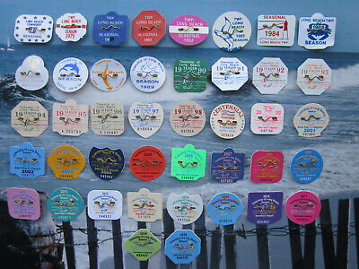 42 Year Collection  Long  Beach  Township ( Lbi )  New  Jersey Beach Badges/Tags